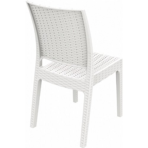 Compamia Florida Resin Wickerlook Dining Chair (Set of Two), White