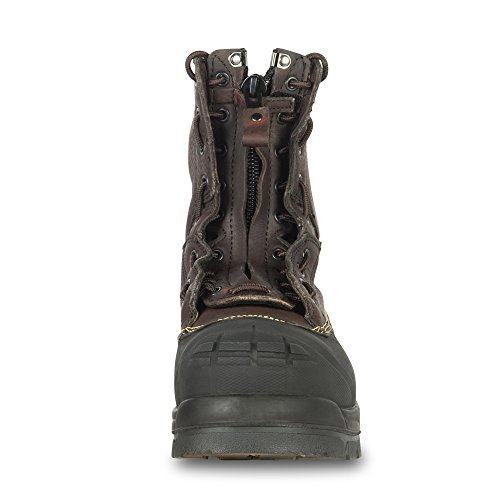 Oliver 65 Series 8'' Leather Chemical-Resistant Steel Toe Lace-In Zipper Men's Metatarsal Boots, Brown (65392) by Honeywell (Image #4)