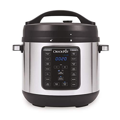 Crock-pot 8-Quart Multi-Use XL Express Crock Programmable Slow Cooker with Manual Pressure, Boil & Simmer, 8QT…