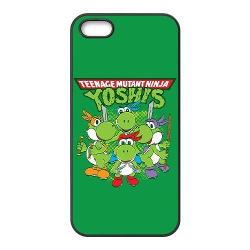 O0G24 Teenage Mutant Ninja Yoshis W2G4ZG coque iPhone 4 4s cellule de cas de téléphone couvercle coque noire WY5EHW8JV