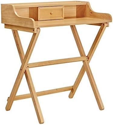 Linon Clover Folding Desk Natural