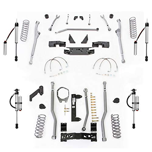 Extreme Duty Long Arm - Rubicon Express JKR343MR Extreme Duty Radius Long Arm Kit w/Shocks; 3.5 in. Lift; Fr/3-Link Rear Rad Arms; Chrom. Adj. Con. Arms; Ball Joints; Super-Ride Bushings; Full Xmember; Monotube Shocks;