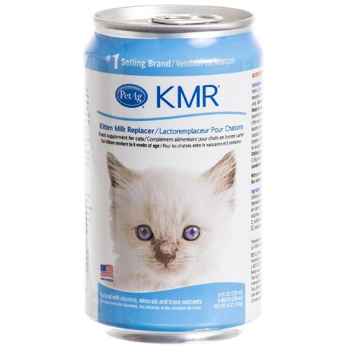 PetAg Set of Two Liquid 8 Oz KMR Kitten Milk Replacer Cans Food Supplement for Cats