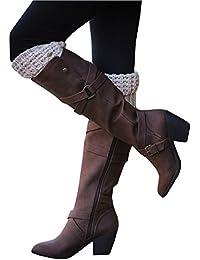 Women's Fashion Knee High Casual Riding Boot Side Zip...