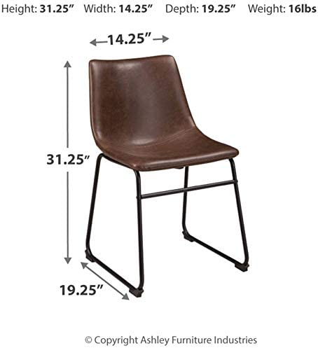 home, kitchen, furniture, kitchen, dining room furniture,  chairs 8 discount Ashley Furniture Signature Design - Centiar Dining Chairs - Set deals