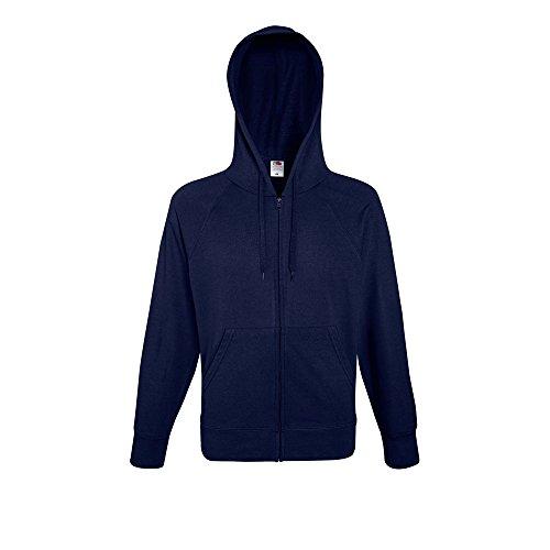 Hooded Of Jacket Fruit Navy Zip Lightweight Loom The Deep Mens Sweat nqwwaXd