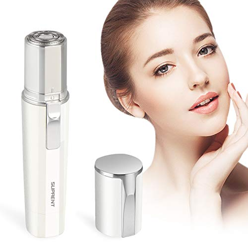 SUPRENT Facial Hair Removal for Women, Facial Hair Remover for Cheek, Lips, Chin and Neck, IPX7 Waterproof, Battery Powered