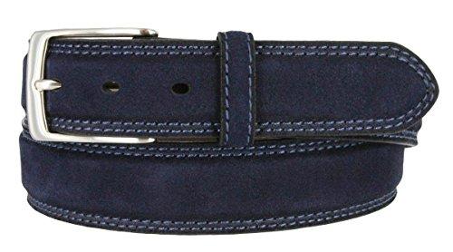 Fullerton 351000-AE354NB Full Grain Suede Casual Jeans Leather Belt 1-3/8