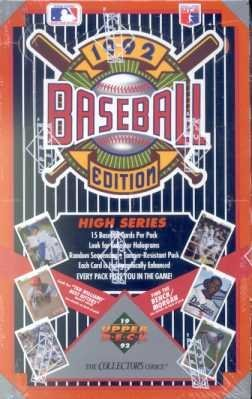 1992 Upper Deck Two Baseball Card Unopened Hobby Box (Box Upper Deck Factory Sealed)