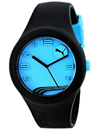 PUMA Unisex PU103001009 Form Black/Neon Blue Watch