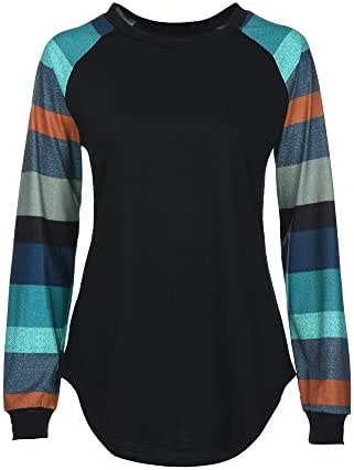Fashion Shirt for Women Striped Casual Vintage Top T Shirt Ladies Loose Long Sleeve Sweatshirt Pullover Blouse