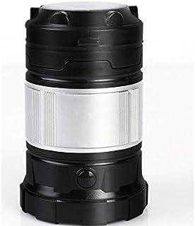 OVVO télescopique extérieur d'urgence Lanterne de Camping LED à énergie Solaire Lumière de Tente (Noir)