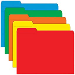 Top Notch Teacher Products TOP3370 Primary Color File Folders, 0.6\