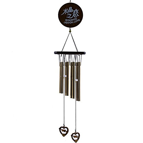 New Arrival Amazing Antique Bronze 8 Tubes Bells Wind Chimes 19-inch, Collection Yard Garden Outdoor Decor - Tenor 1 Light Pendant