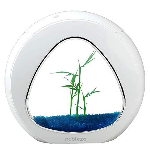 Nobleza - Acuario pecera de diseno Moderno con Ventana de Cristal y luz LED, Color Blanco. Capacidad de 4L