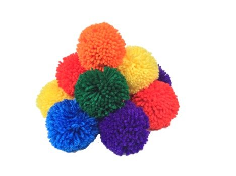 12-Pack 3.5'' Yarn Sport Balls / Soft Fleece Balls (Rainbow Pack) by Fluffilo (Image #1)