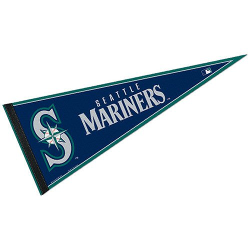 WinCraft MLB Seattle Mariners WCR63815312 Carded Classic Pennant, 12