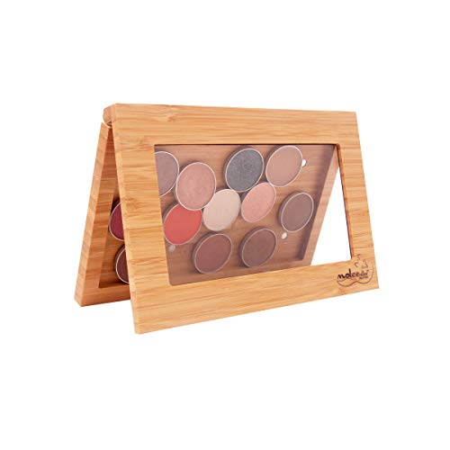 Exclusive Bamboo Magnetic Makeup Palette Customized Eye Shadow Palette Freestyle Cosmetic Organizer Includes 12 Shades ()