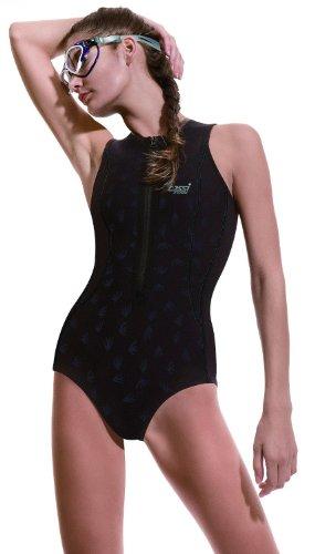 Cressi Damen Neopren Badeanzug Termico 2 mm, schwarz (dark black), M/III/46, DG000503