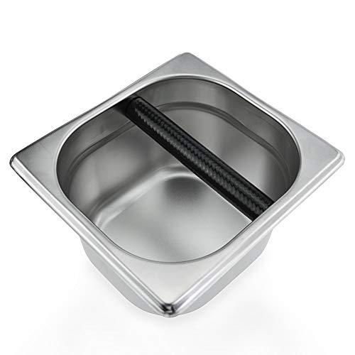 Orangehome Coffee Knock Box Stainless Steel Espresso Knock Box - 6.3 x 6.89 x 3.7 inch by Orangehome