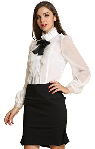 Top 10 Best Women's Bodysuits Shirts for Office Work 2019-2020 - cover