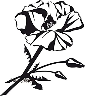 haotong11 Flor de Amapola Flor Etiqueta de la Pared Dormitorio ...
