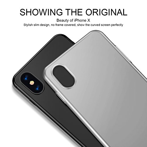 iPhone X Case, iPhone 10 Case, HUMIXX Thin Sleek Fully Protective (Naked Phone Texture) Matt Finish Hard Case Cover for iPhone X[Skin Series] (Silver) Photo #3
