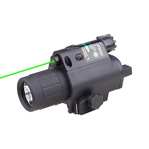 Pinty Green Laser Sight LED Flashlight Combo for 20mm Picatinny Rail
