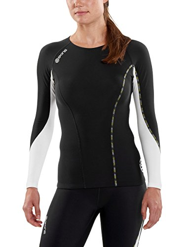SKINS Womens Skins Dnamic Women's Thermal Long sleeve Compression Top, black/Cloud, X-Small