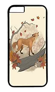 Apple Iphone 6 Case,WENJORS Awesome Fox and rabbit Hard Case Protective Shell Cell Phone Cover For Apple Iphone 6 (4.7 Inch) - PC Black