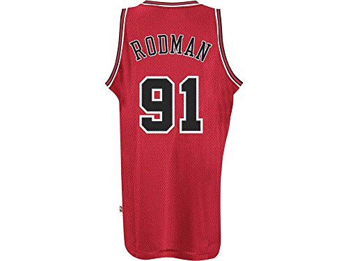 Chicago Bulls #91 Dennis Rodman NBA Soul Swingman Jersey, Red, Size: Large