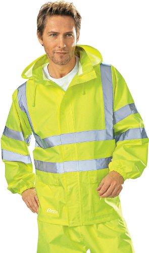 Terratrend Job 60832-s-9000Größe S hohe Sichtbarkeit Regen Jacke–gelb
