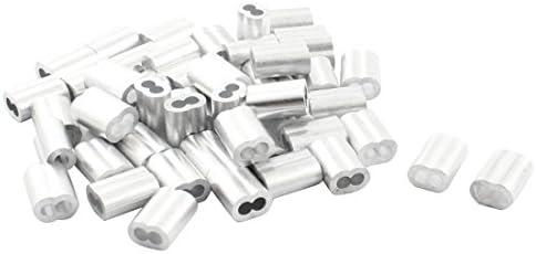 Huante Quetschhülsen, 15 mm, Aluminium, für 3 mm Drahtseil, 50 Stück