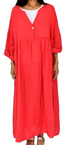 Mein 3 Design Damen Bohemian LA500 Arm Kleid Lagenlook de Rot Mallorca 4 14a1r