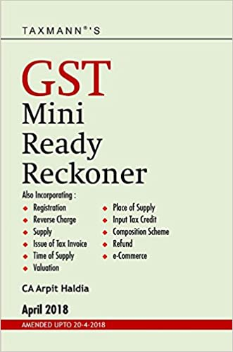 GST Mini Ready Reckoner (Amended upto 20-4-2018)