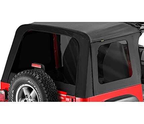 Sunrider Black Denim - Bestop 58698-15 Black Denim Tinted Window Kit for Sunrider for 1976-1995 CJ7 and Wrangler YJ