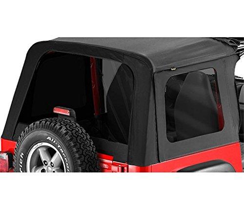 Black Denim Tinted Window - Bestop 58698-15 Black Denim Tinted Window Kit for Sunrider for 1976-1995 CJ7 and Wrangler YJ