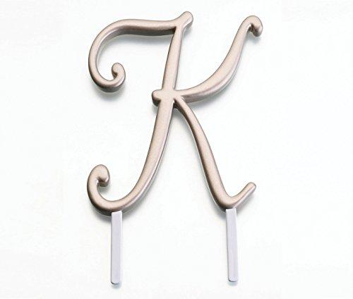 Lillian Rose Monogram Cake Topper Letter K Gold