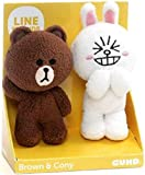 GUND Line Friends Plush Stuffed Animal, Brown & Cony Set of 2, 4""