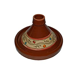 Moroccan Cooking Tagine Tajine Small Lead Free 33 Measurement: 8 inches wide (at base) Cook Chicken, Meat, Seafood or Vegeterian food Ideal for cooking on top of any kind od stove