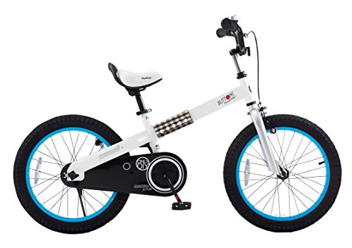 "RoyalBaby CubeTube Buttons 18""  Bicycle for Kids, Blue"