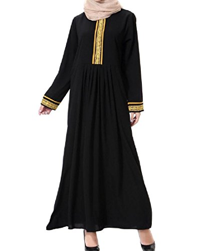 Party Gown Coolred Long Plus Casual Stitching Women golden Muslim Size Dress OfqxwB0O