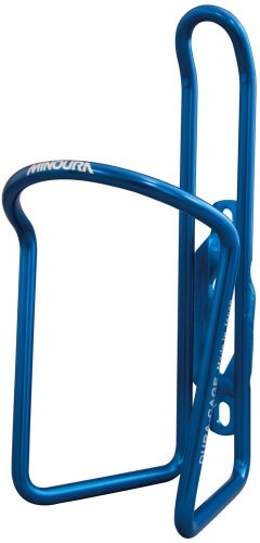 Minoura Bottle Cage - Minoura AB-100-5.5 Anodized Water Bottle Cage, Blue, 5.5mm