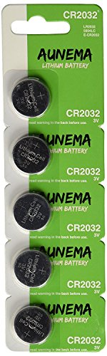 5 Pack Aunema CR2032 3 Volt Lithium Button Coin Cell Battery