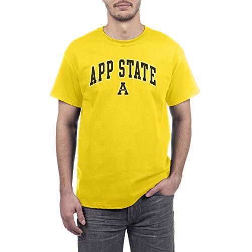 Elite Fan Appalachian State Mountaineers Men's Short Sleeve Arch Tee, Yellow, Medium (Best Clothing App For Men)