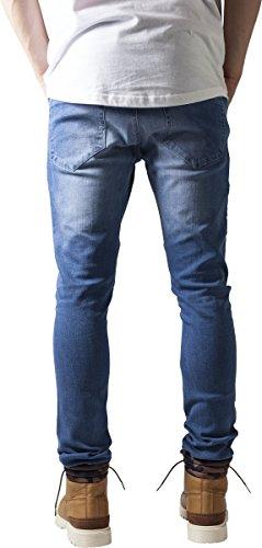Blu Jeans Uomo Biker Fit Classics Slim Urban blue Washed qwAv7n