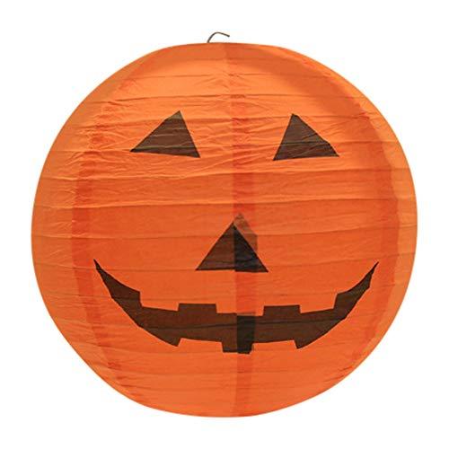Halloween Pumpkin Lantern Light Paper Paper Hanging DIY