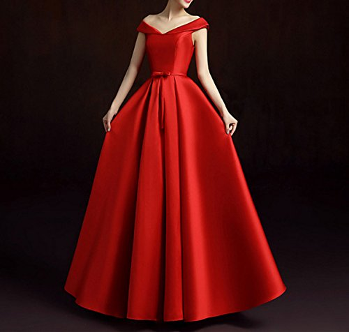 Mujer Vestidos De Dama De Noche De Las Mujeres Partido Formal De Baile Vestido Red