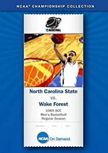 1989 ACC Men's Basketball Regular Season - North Carolina State vs. Wake Forest