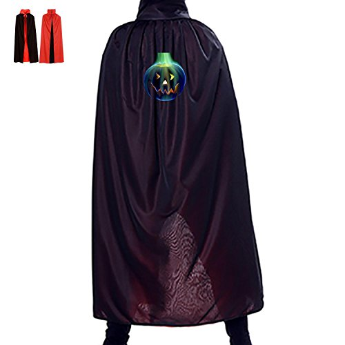 Pumpkin burner Halloween Wizard Witch Reversible Costume Cape Party Cloak For Kids (Anger Costume Ideas)